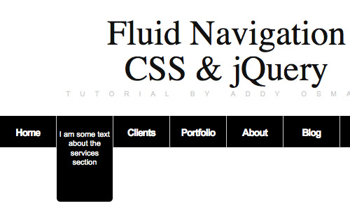 Fluid Navigation How to create an informative menu-bar with jQuery CSS